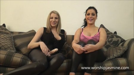 Worship Jasmine and  Princess Danielle - Suck Cock For Us